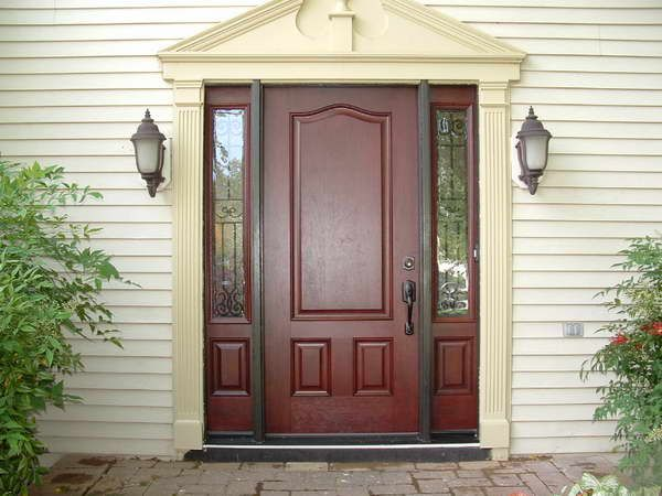 Wood Entry Doors With Sidelights Entry Door With Sidelights And White Wood