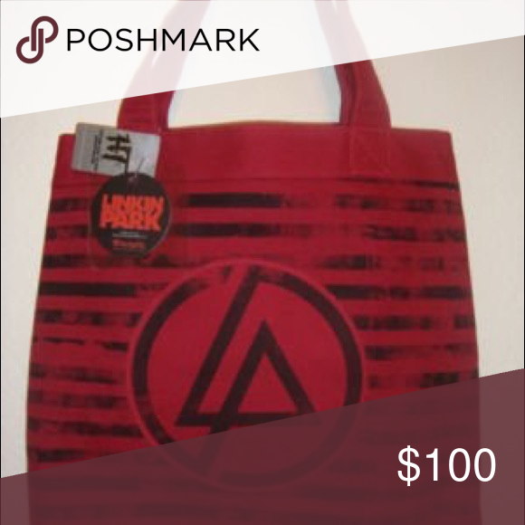 ISO LP Tote I know this is a long shot, but ISO this exact Linkin Park Tote, I purchased mine years ago from HT but unfortunately it got lost in a move & I haven't been able to find a replacement. :/ Please tag me if you see anything! Hot Topic Bags Totes