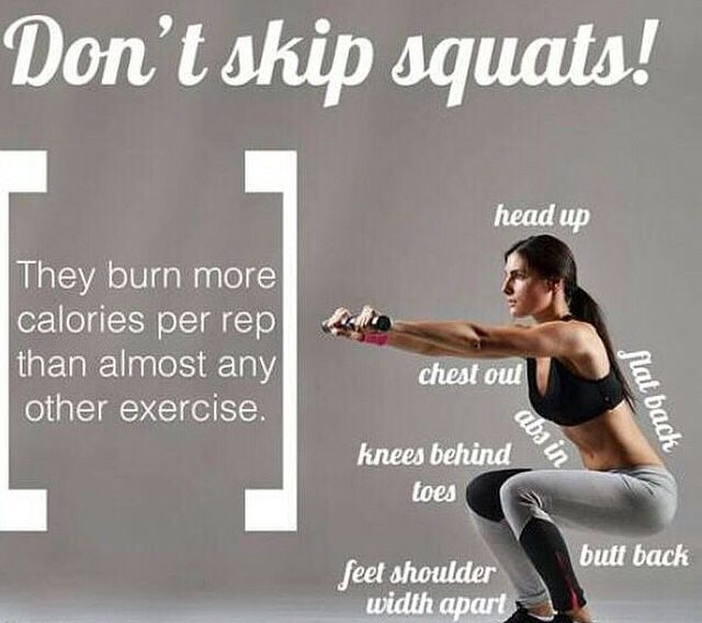 Squats: they work more then one muscle making the calorie count for much larger then some workouts.