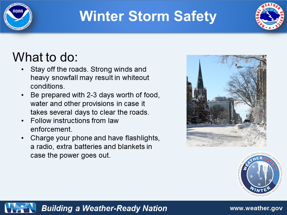 Tips for Winter Storm Safety What to Do NWS