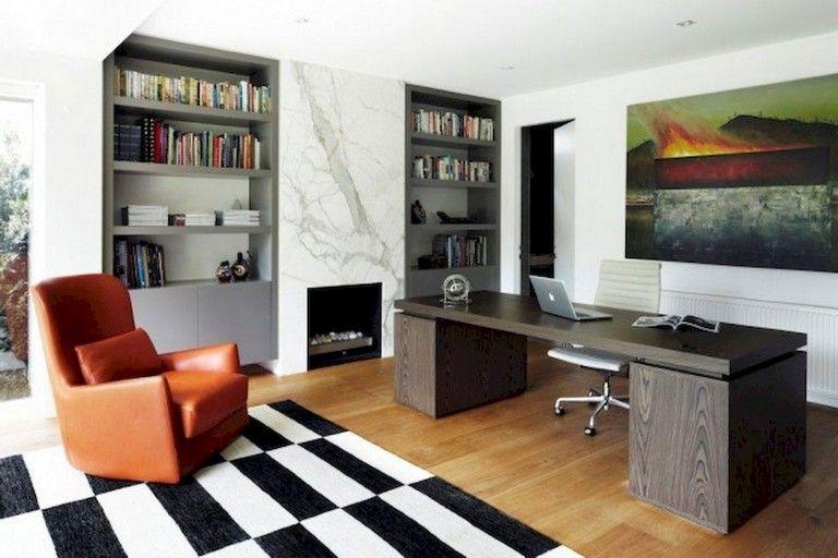 56+ Stunning Moody Mid Century Home Office Decor Ideas house - Home Office Decor Ideas