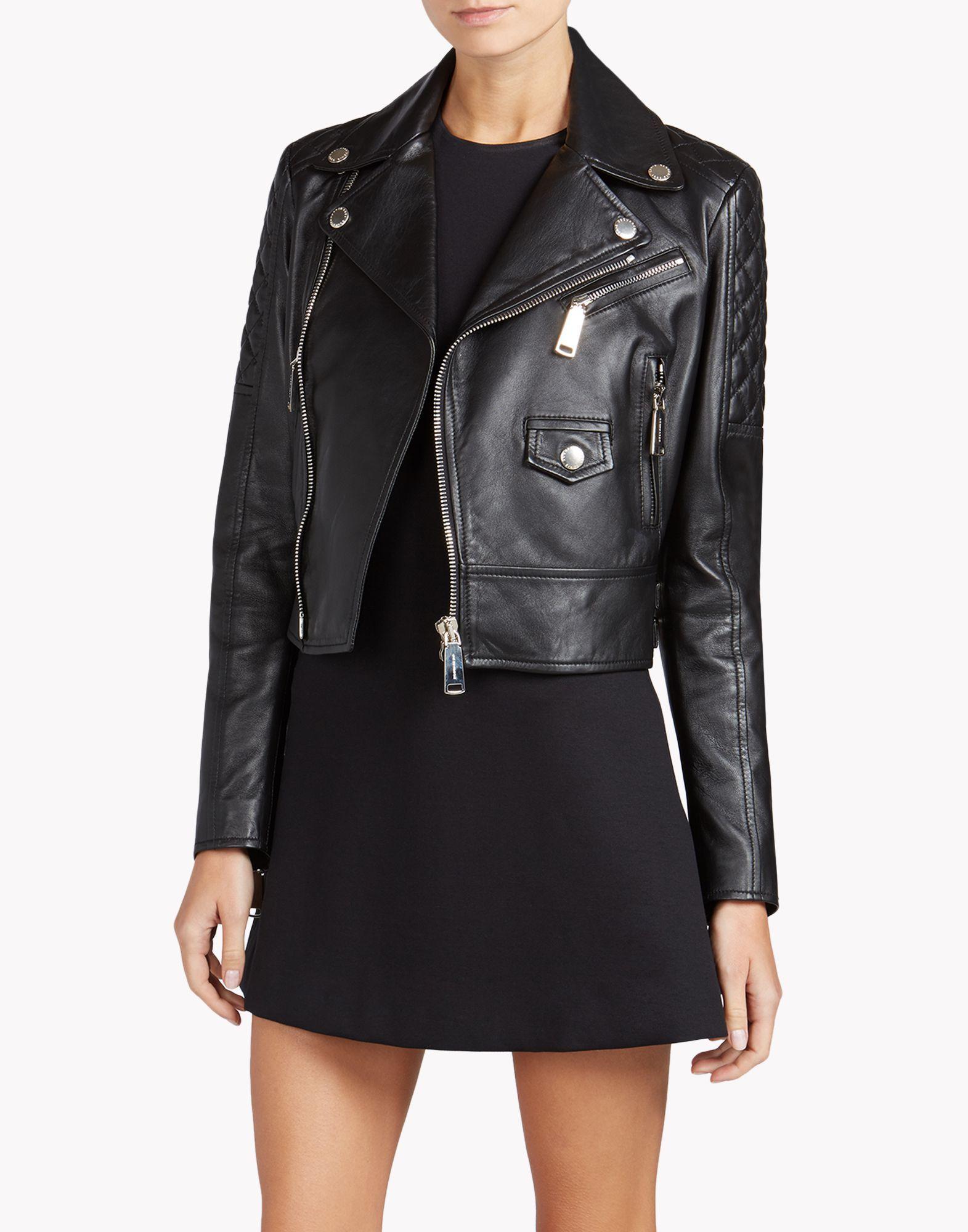 Online Dsquared2 Biker Store Women Jacket Leather Outerwear CqCwrpX