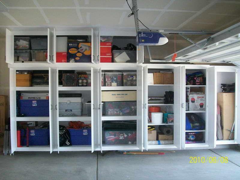 Charming Simple Garage Organization Ideas Part - 8: Garage, DIY Garage Door Shelves White: Apply The Garage Storage Ideas To  Have Incredible