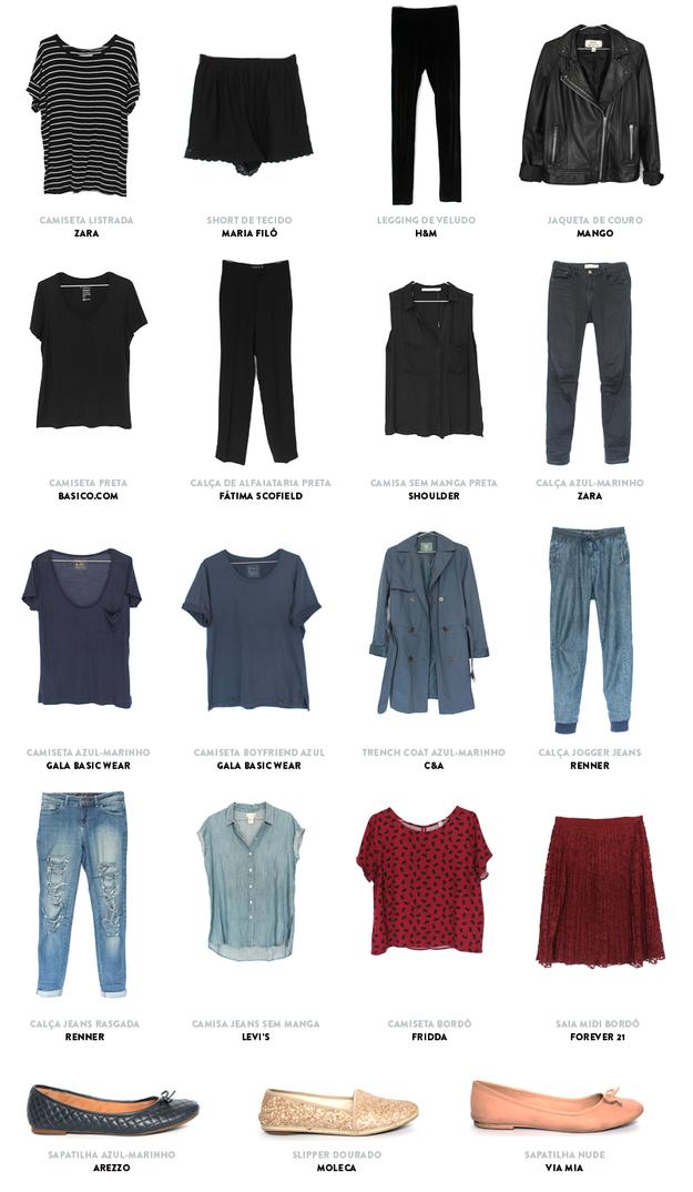 Artesanato Na Escola ~ Uma dica legalé criar um catálogo com as roupas do seu armário cápsula Armário cápsula