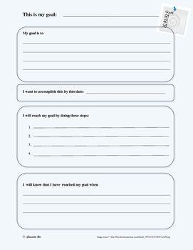 Setting SMART Goals Study Skills WORKSHEET Character Ed PBIS ...