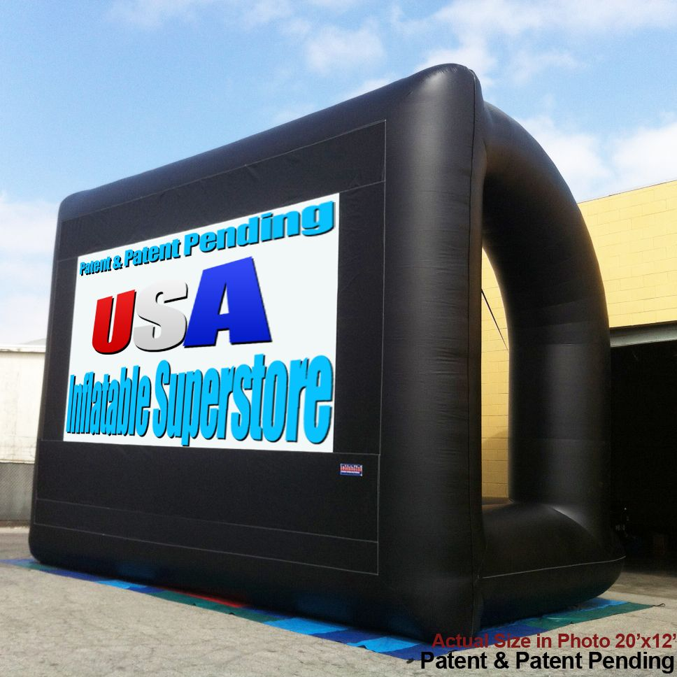 40ft pro inflatable movie screen and projection screen tech toys