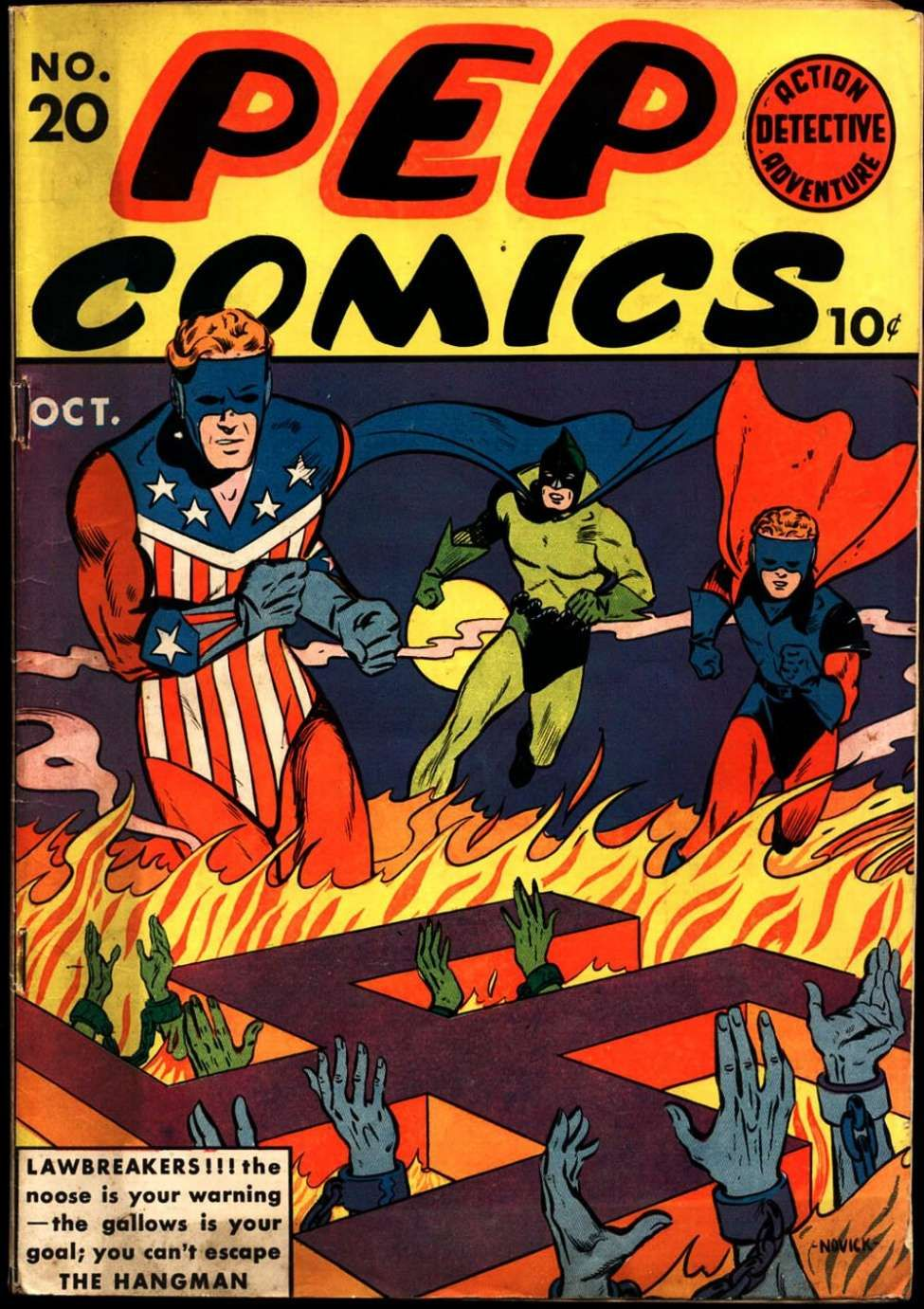 Comic Book Cover For Pep Comics #20 | Golden Age Super Heroes ...