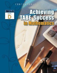 The Achieving TABE Success household is designed to supply complete skill preparation and follow for TABE 9&10, encompassing Studying, Mathematics and Language, for levels E, M, D and A.  This sequence of books will assist students obtain NRA achieve by way of focused instruction that particularly addresses TABE 9&10 skills.