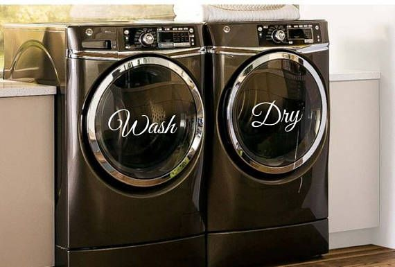 Wash Dry Decals Washer Dryer Decals Wash Dry Laundry Room