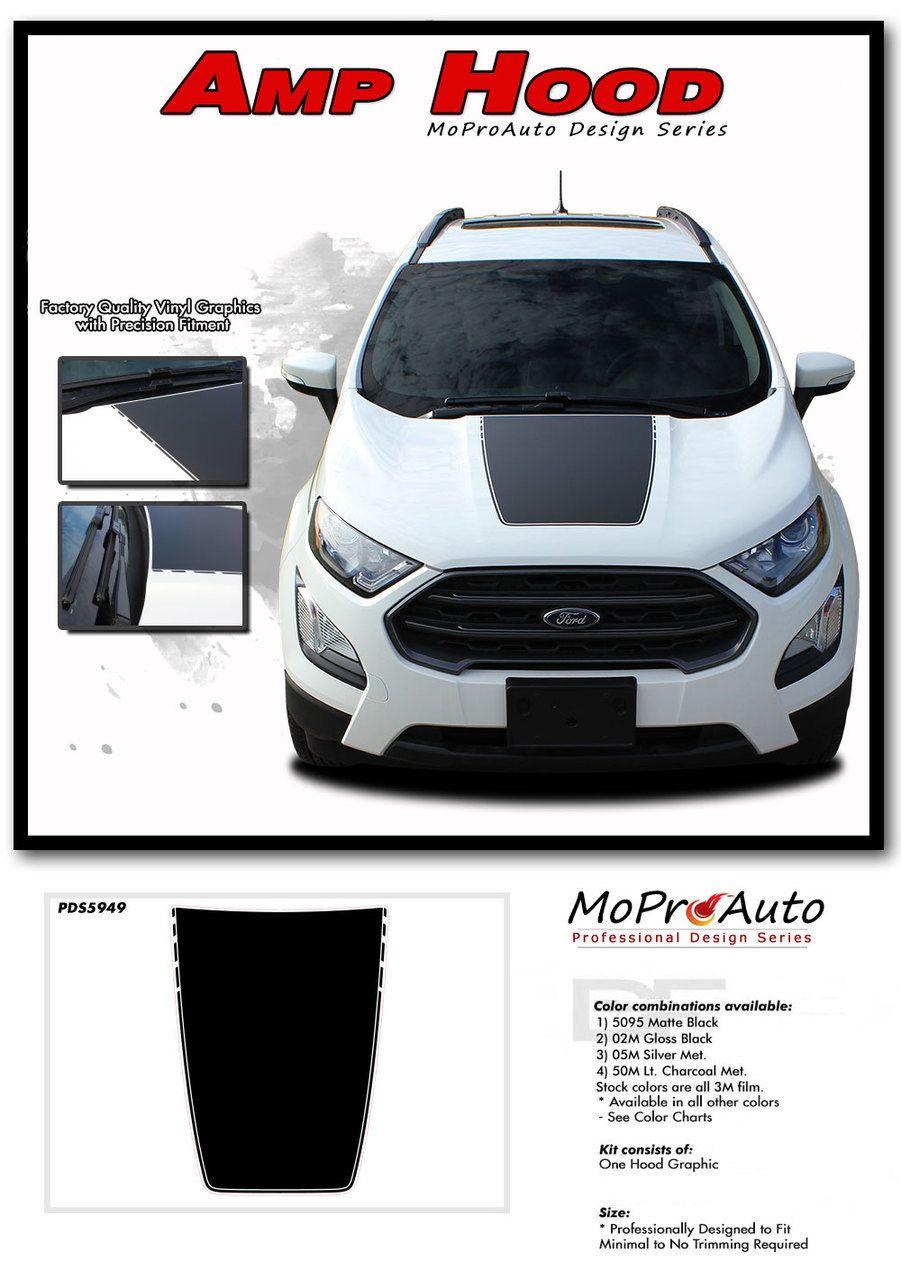 Amp Hood Ford Ecosport Hood Decal Stripe Vinyl Graphic Kit For