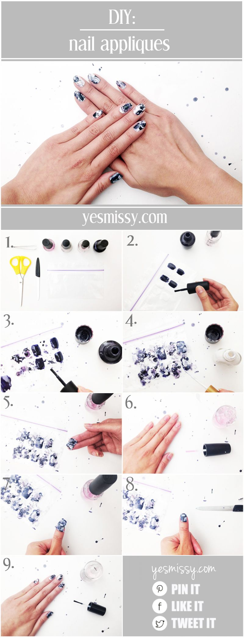 Make Your Own DIY Nail Appliques and Nail Stickers | nail stuff ...