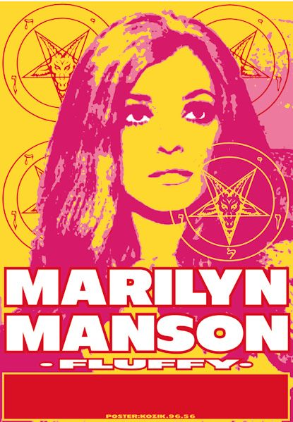 Marilyn Manson Gigposter By Kozik Marilyn Manson Gig Posters Psychedelic Rock