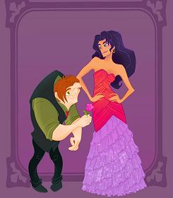 Quasimodo and Esmeralda Disney prom