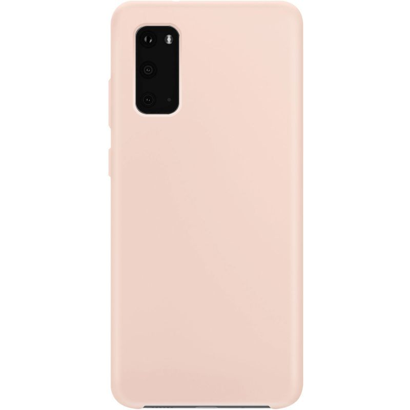Xqisit Samsung S20 Silicone rose Accessoire smartphone  | Boulanger