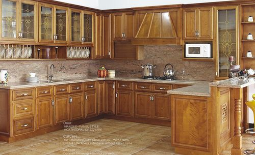 American Style Solid Wood Kitchen Cabinet Units Shunde District