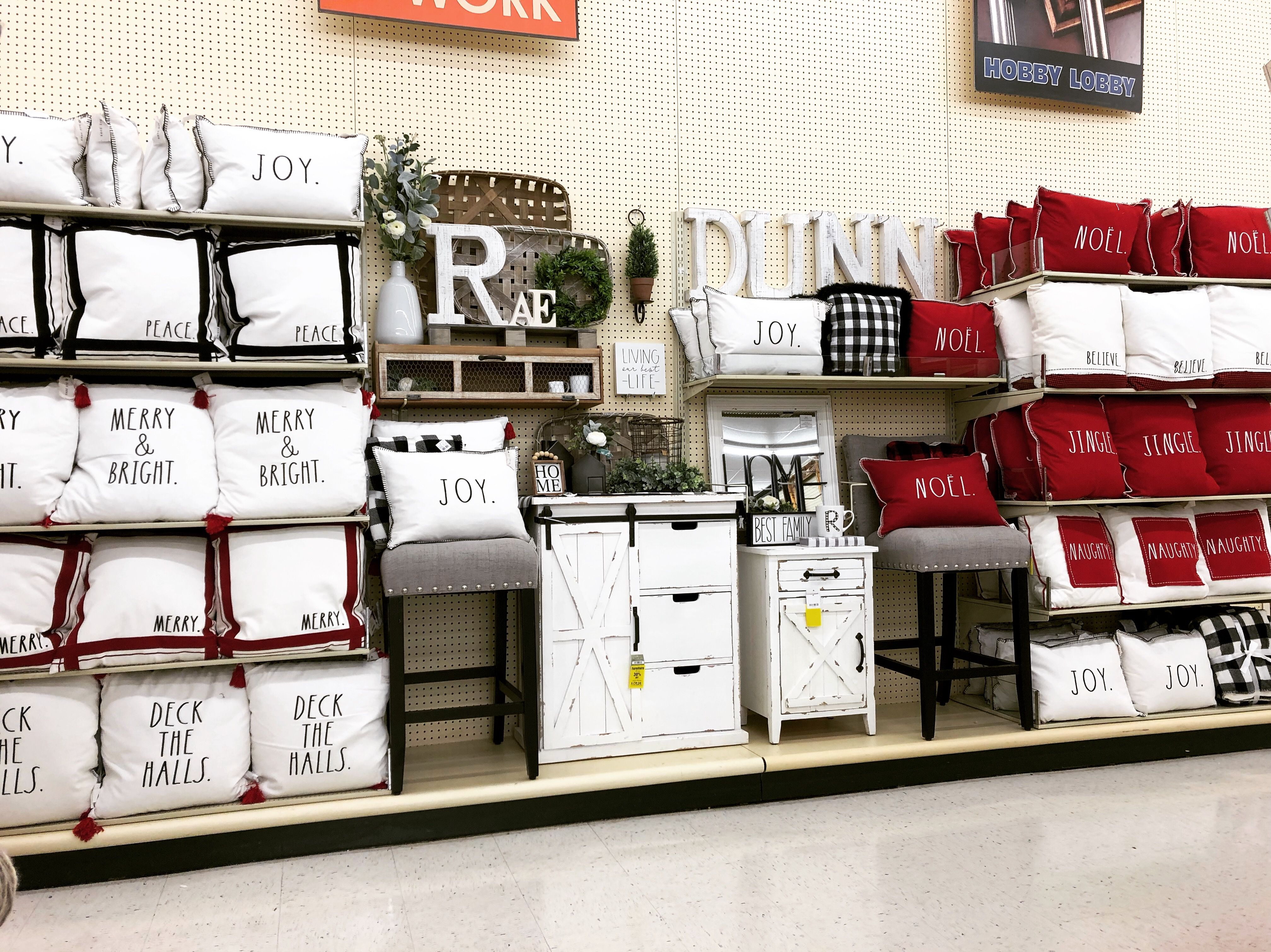 Rae Dunn Pillows At Hobby Lobby Hobby Lobby Decor Hobby Lobby Displays Hobby Lobby Inspiration