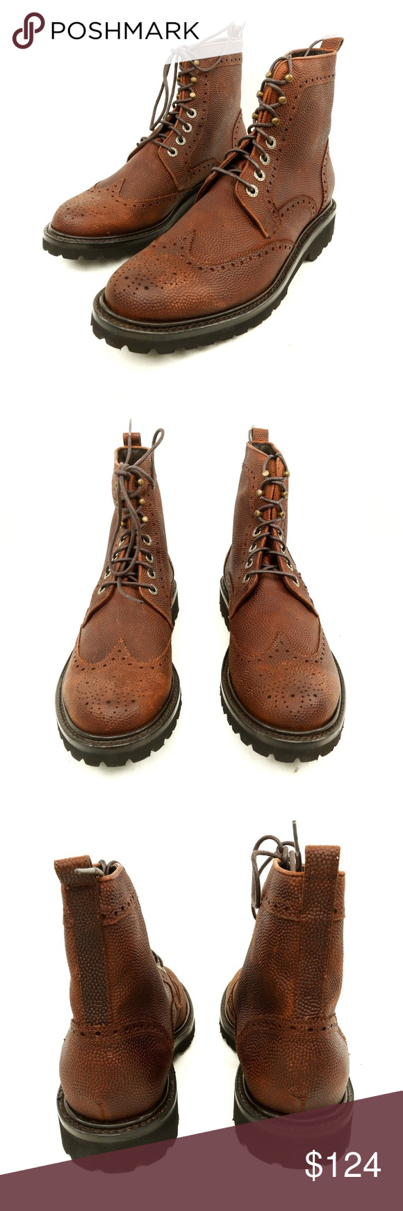 a005742f3d5 Wolverine 1883 Percy Pebble Grain Wingtip Boots Wolverine 1883 Percy ...