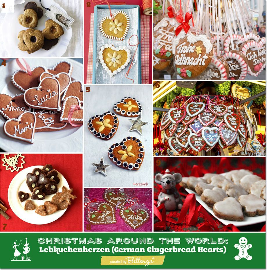 Christmas Around The World Party Ideas Part - 24: Christmas Around The World: Lebkuchenherzen (German Gingerbread Hearts)