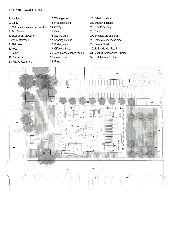 Galer a de nueva biblioteca central de halifax schmidt for Planos de bibliotecas