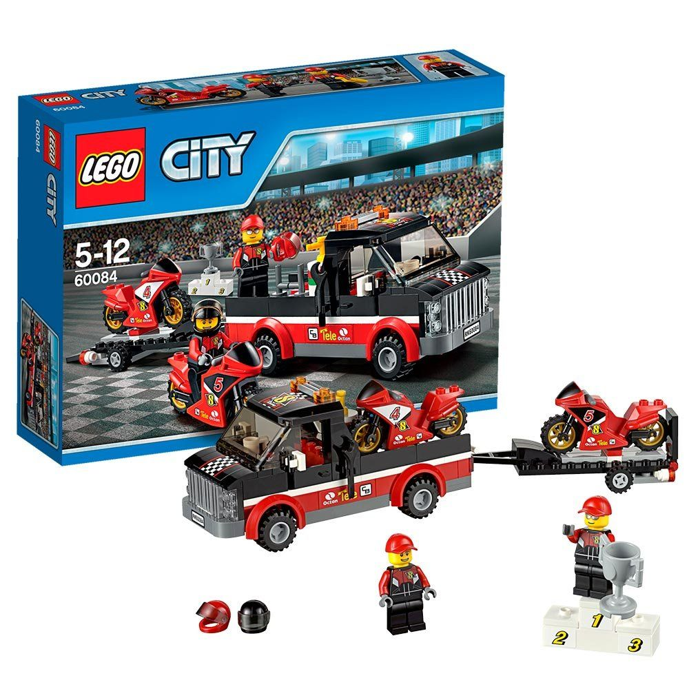 Pin lego 60032 city the lego summer wave in official images on - Lego City Great Vehicles 60084 Racing Bike Transporter