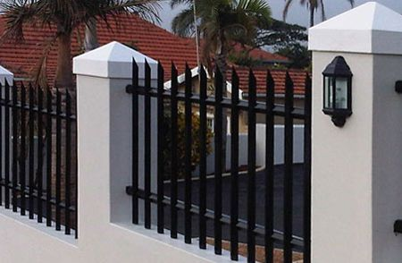 Top 25 Best Palisade Fence Ideas On Pinterest - brick wall designs with palisade fencing