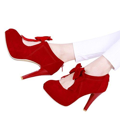 78aef9752bd Fashion Vintage Womens Small Bowtie Platform Pumps Ladies Sexy High Heeled  Shoes