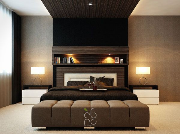 Modern Master Bedroom Design Ideas With Brown Decoration With Cream Curtain  And Best Lighting Part 4