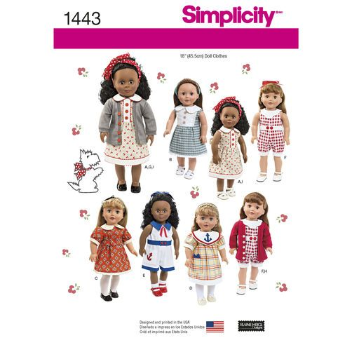 Simplicity Pattern 1443 18 inch Doll Clothes | Patterns I have ...