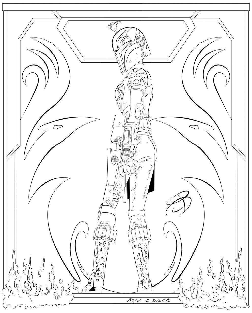Coloring Pages Sabine Wren By Rcbrock On Deviantart Bird
