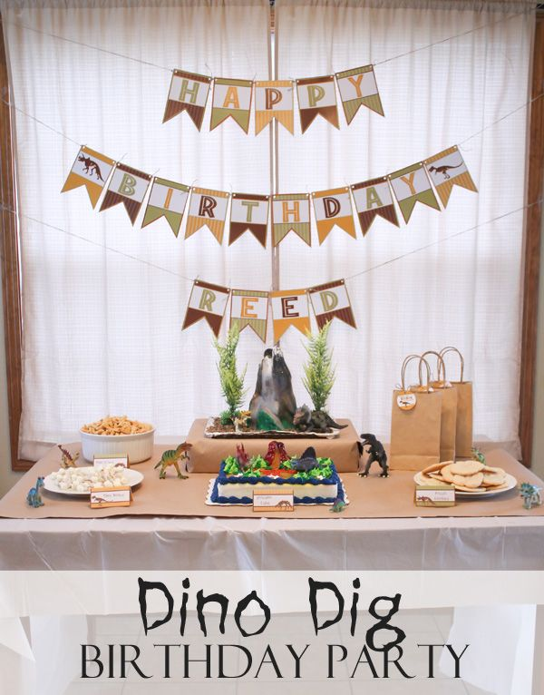 Dino Dig Birthday Party Birthdays Themed birthday parties and