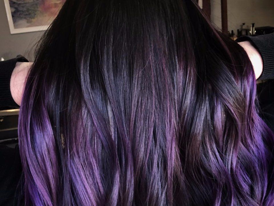 how to get purple hair dye out of clothes