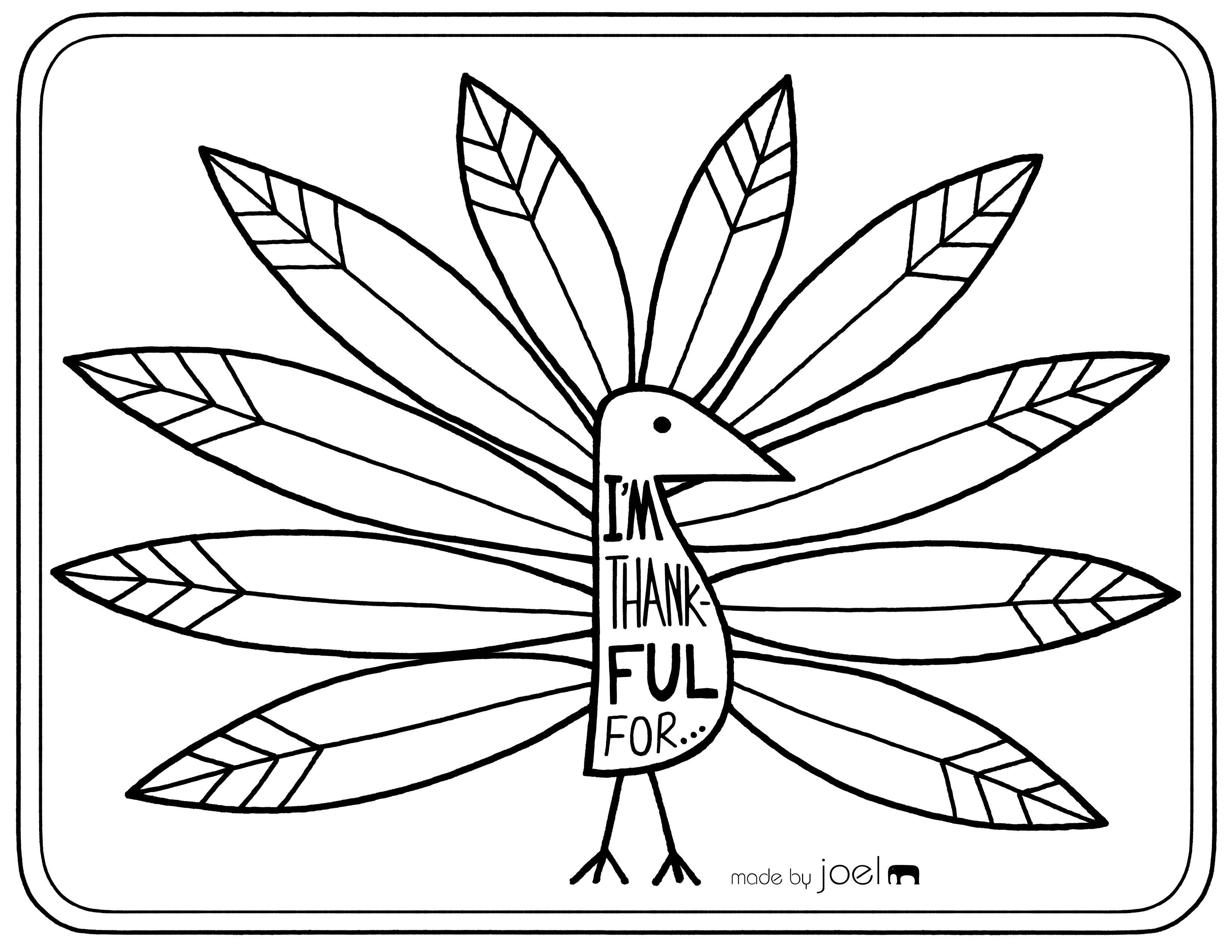 Made By Joel Printable Placemat For Giving Thanks Thanksgivingplacematspreschool Made B Thanksgiving Placemats Thanksgiving Printables Turkey Coloring Pages