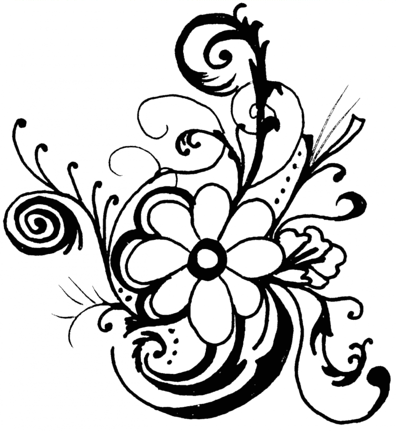 Spring Flower Clipart Black And White Clipart Best Garden Club