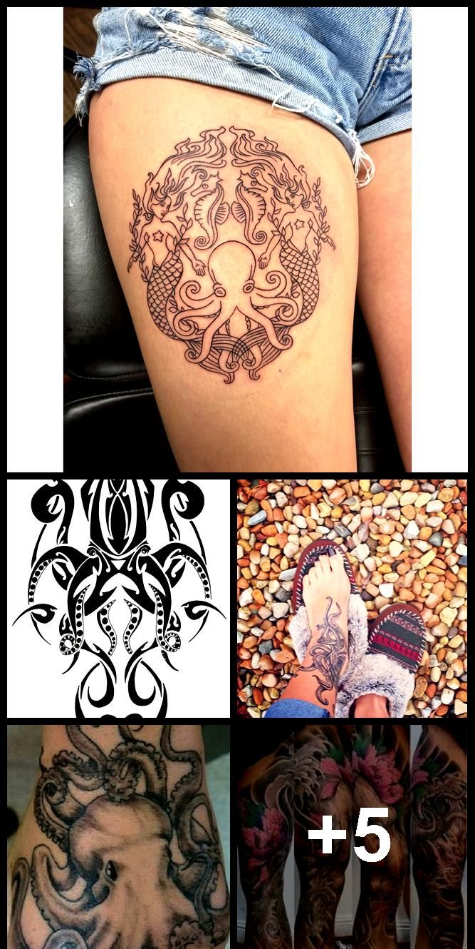 Photo of Tribal Octopus Tattoo-Design