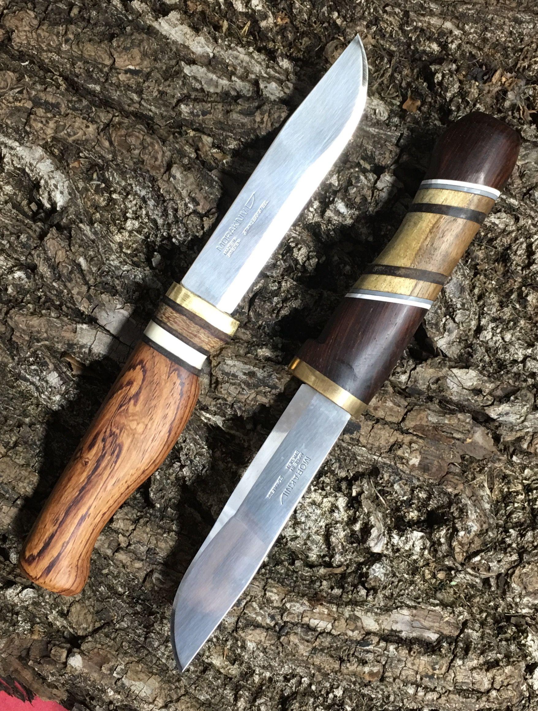 Mora blade, custom handle  Cocobolo, Walnut & Rosewood | Autry