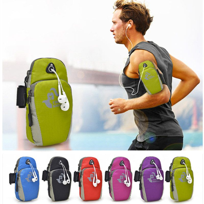 Nylon Running Arm Bag Outdoor Sport Fietsen Joggen Wandelen Fitness pols pouch mobiele telefoon bag voor iphone 6 iphone 6 s plus