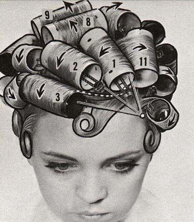 Roller Diagram Bouffant Hair Hair Rollers Vintage Hairstyles