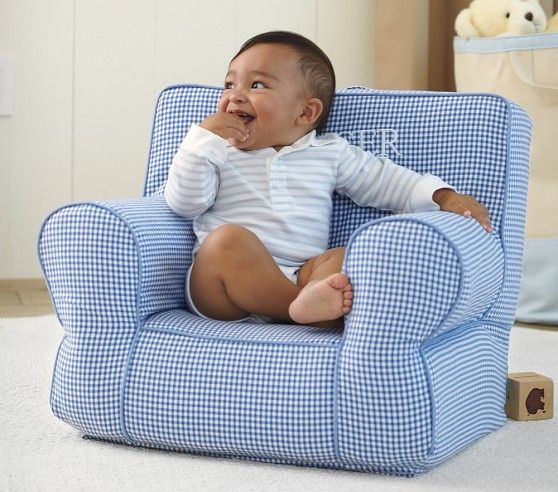 Blue Gingham My First Anywhere Chair | Pottery Barn Kids