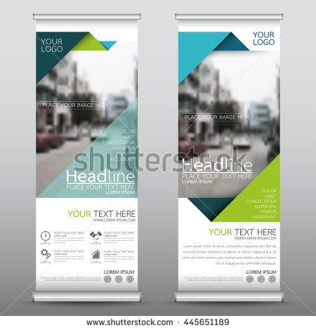 Green roll up business brochure flyer banner design vertical ...