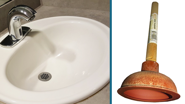 How To Unclog A Sink In Your Bathroom Or Kitchen Today S Homeowner Sink Plunger Bathroom Sink Drain