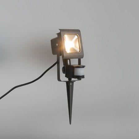 Proyector Led Radius 2 10w Gris Oscuro Con Estaca Con Sensor De Movimiento Pir Proyector Led Led Proyector