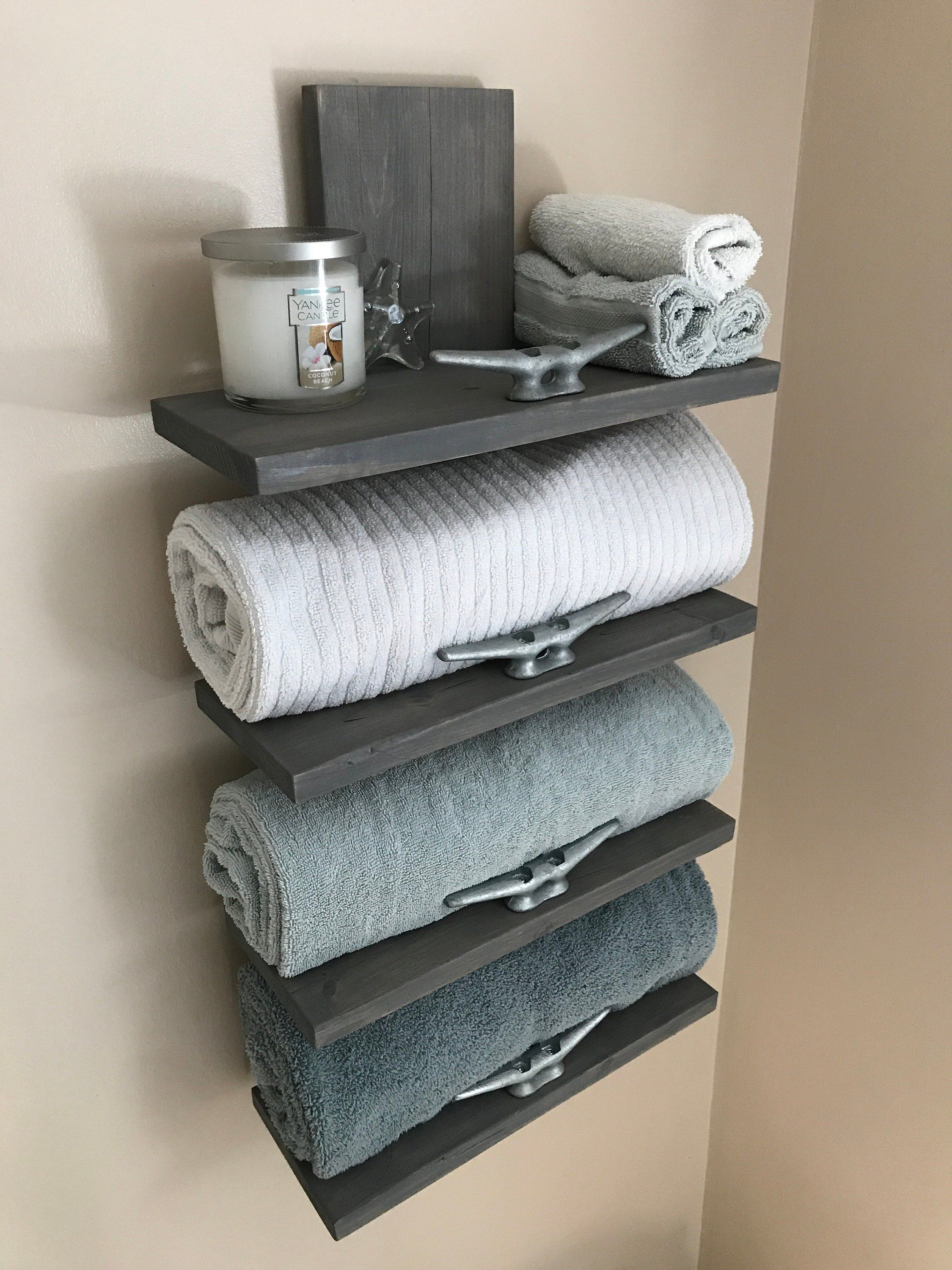 Nautical Towel Rack Nautical Decor Bathroom Decor Home Decor
