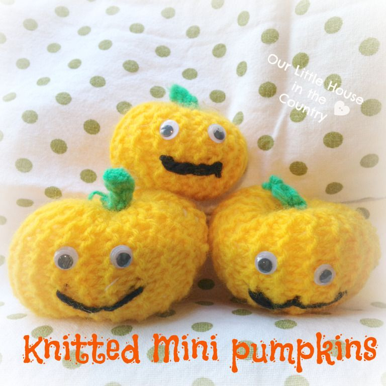 Photo of Knitted Mini Pumpkins