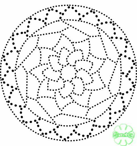Dot Mandala Template Dot Art Painting Dot Painting