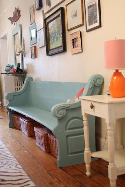 Foyer Sitting Area : Church pew for sitting area in your foyer genius home