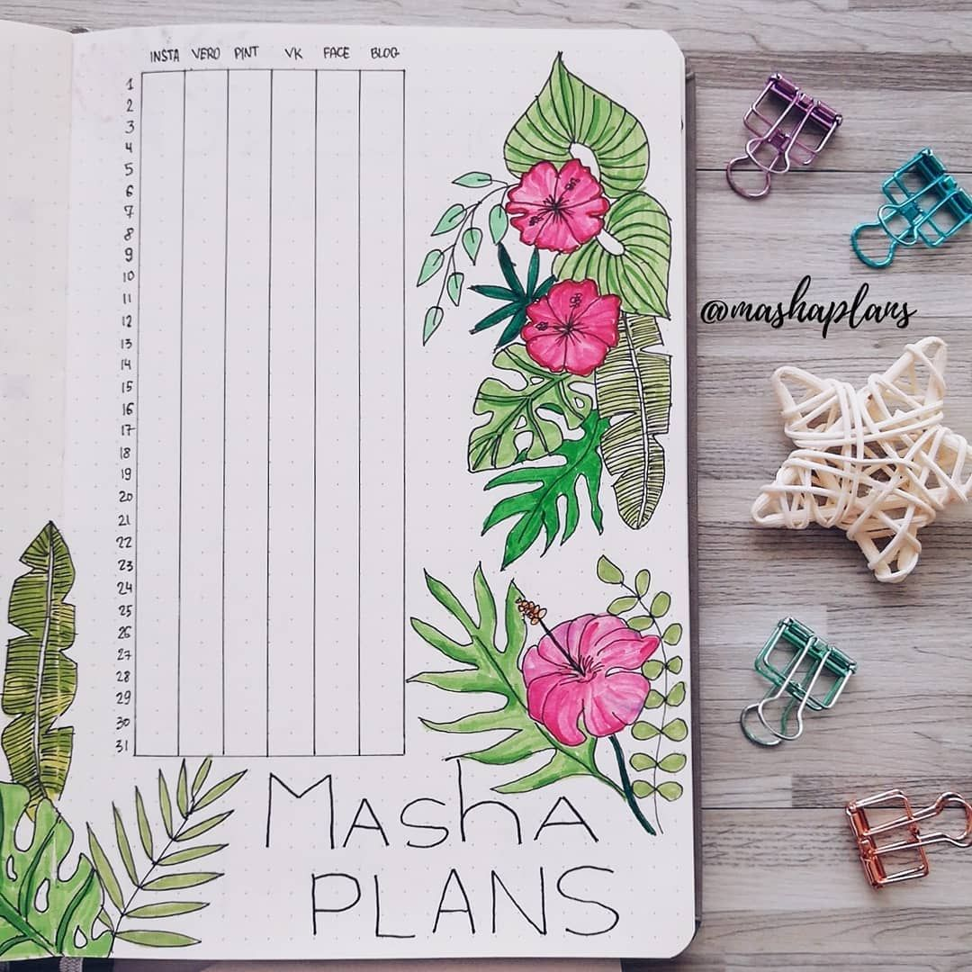 Masha Mashaplans Social Media Tracker In My Bullet Journal Thank You All For Supporting My Pass Planner Bullet Journal Social Media Tracker Passion Project