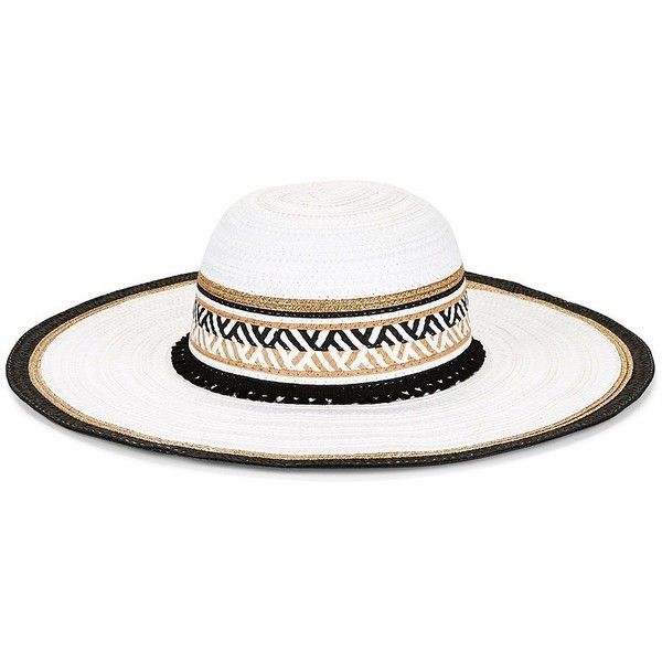 7de02f80dd275 Steve Madden Floppy Sun Hat (86 RON) ❤ liked on Polyvore featuring  accessories