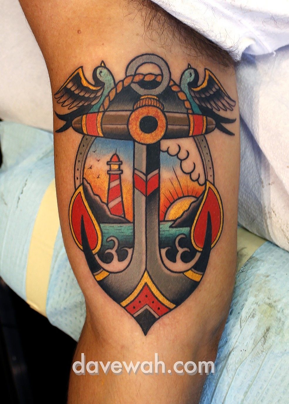 Anchor tattoo by dave wah at stay humble tattoo company in for Best tattoo shops in baltimore