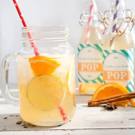 Refreshing homemade cola with unbelievable flavours and absolutely no high fructose corn syrup! The perfect summer drink!