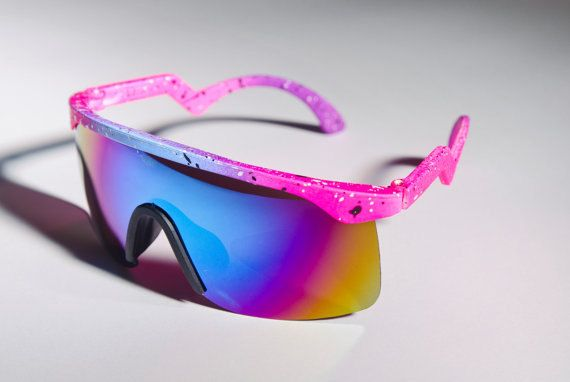 6894e3c86ddde Blaster Ski Mirror Inspired Neon Colorful Sparkle COOL Blue Pink ...